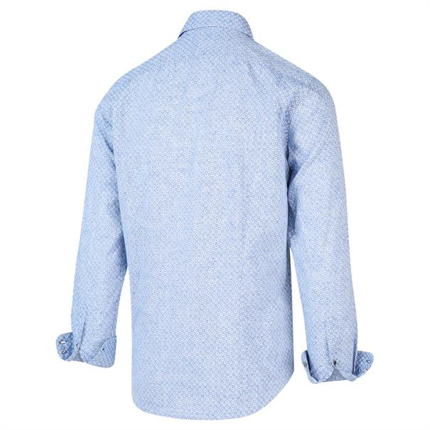Blue Industry overhemd Slim Fit 2018.21 in het Marine