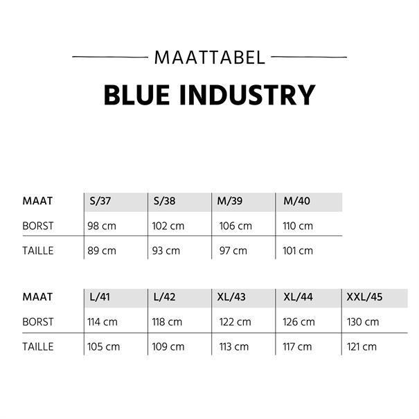 Blue Industry overhemd Slim Fit 2062.21 in het Marine