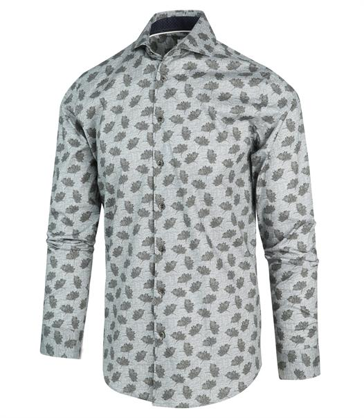 Blue Industry overhemd Slim Fit 2190.22 in het Mint Groen