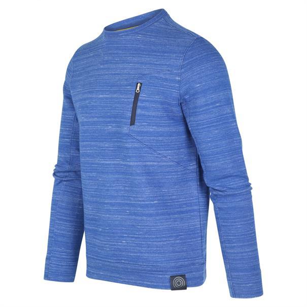 Blue Industry ronde hals trui KBIW19-M30 in het Kobalt