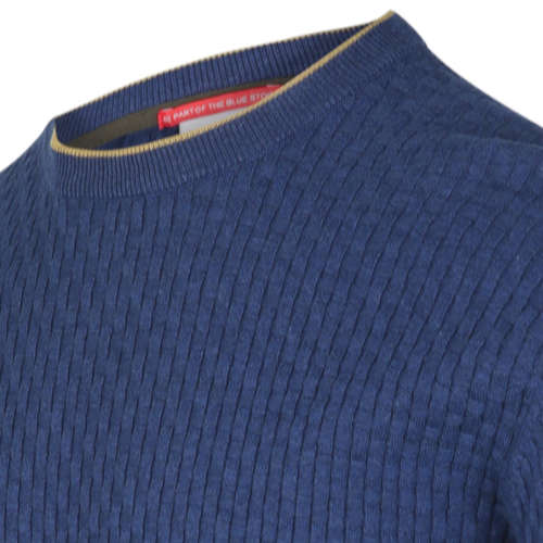 Blue Industry ronde hals trui KBIW19-M4 in het Denim