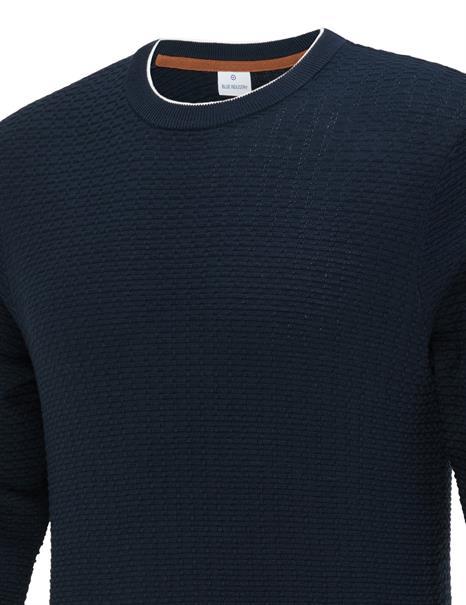 Blue Industry ronde hals trui KBIW21-M4 in het Donker Blauw