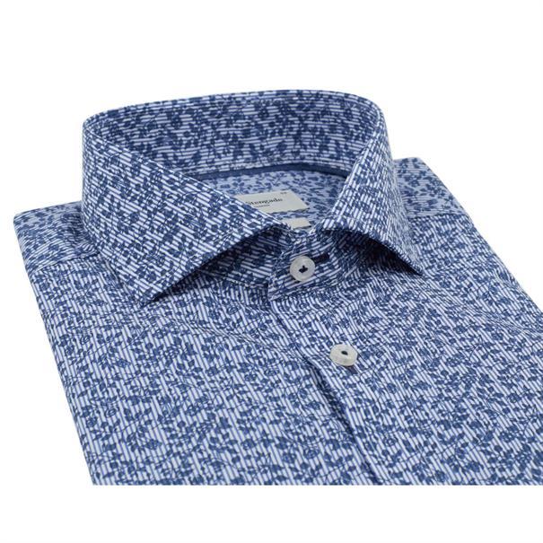 Bruun & Stengade overhemd Slim Fit Arino in het Donker Blauw