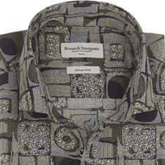 Bruun & Stengade overhemd Slim Fit coster in het Groen