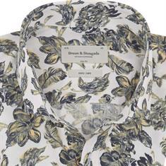 Bruun & Stengade overhemd Slim Fit curnen in het Groen
