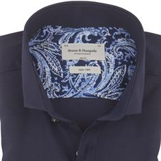 Bruun & Stengade overhemd Slim Fit eckhart in het Marine