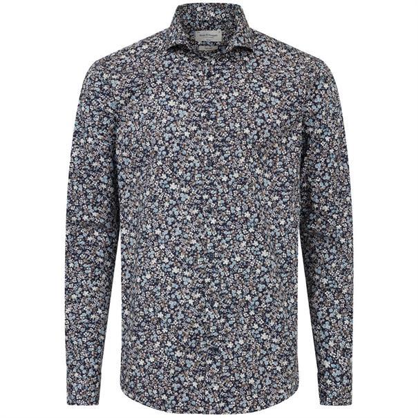 Bruun & Stengade overhemd Slim Fit elton in het Donker Blauw