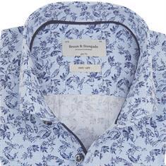 Bruun & Stengade overhemd Slim Fit eric in het Blauw