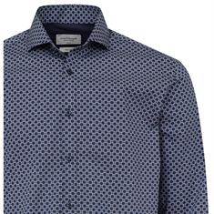 Bruun & Stengade overhemd Slim Fit john in het Donker Blauw