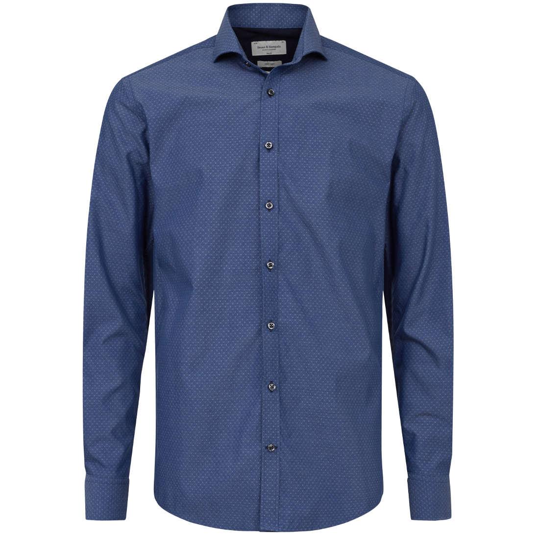 Bruun & Stengade overhemd Slim Fit mane in het Marine