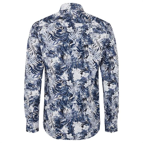 Bruun & Stengade overhemd Slim Fit Master in het Donker Blauw