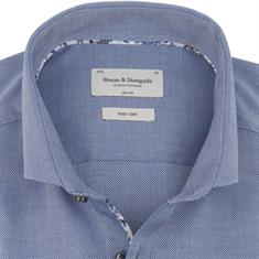 Bruun & Stengade overhemd Slim Fit murphy in het Blauw
