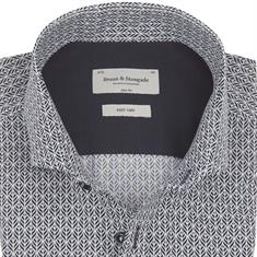 Bruun & Stengade overhemd Slim Fit oldham in het Zwart / Wit