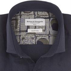 Bruun & Stengade overhemd Slim Fit reese in het Blauw