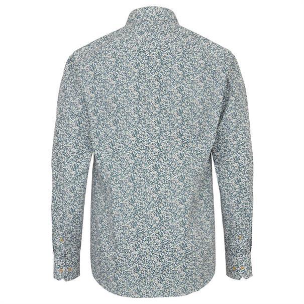 Bruun & Stengade overhemd Slim Fit Strining in het Groen