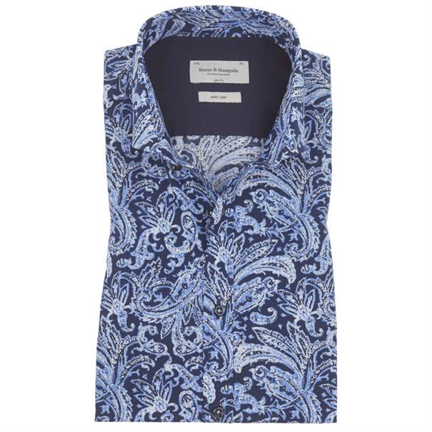 business overhemd Slim Fit aaron in het Blauw