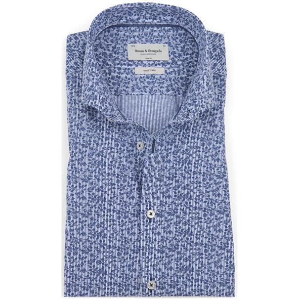 business overhemd Slim Fit Arino in het Donker Blauw