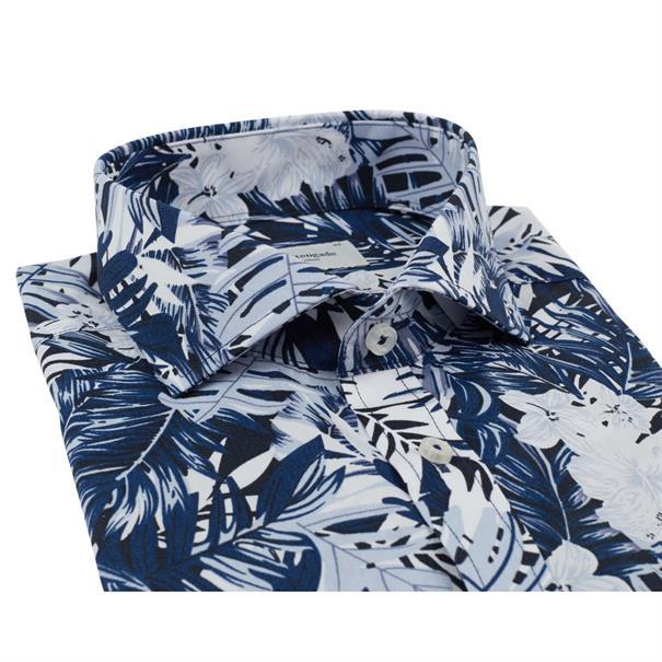 business overhemd Slim Fit Master in het Donker Blauw