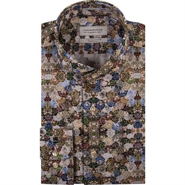 business overhemd Tailored Fit 91-7769 in het Groen