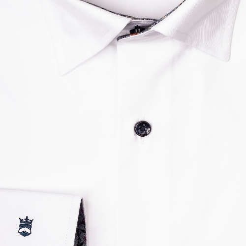 business overhemd Tailored Fit 927725a in het Wit/Grijs