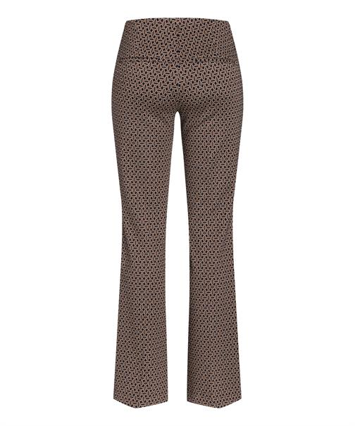 Cambio broek Flared 6929035003 in het Zwart / Bruin