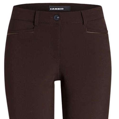 Cambio pantalons Slim Fit 6111-028511 in het Donker Bruin