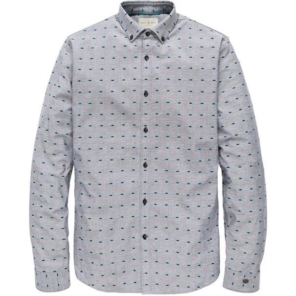 Cast Iron casual overhemd csi185670 in het Donker Blauw