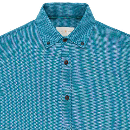 Cast Iron casual overhemd csi195605 in het Blauw