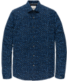 Cast Iron casual overhemd CSI205604 in het Donker Blauw