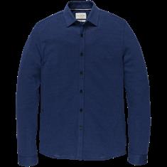 Cast Iron casual overhemd CSI205608 in het Kobalt