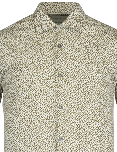 Cast Iron casual overhemd CSI211200 in het Groen