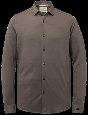 Cast Iron casual overhemd CSI216214 in het Antraciet