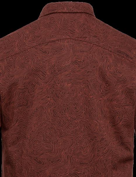 Cast Iron casual overhemd CSI216216 in het Oker