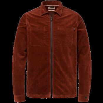 Cast Iron casual overhemd CSI216218 in het Oker