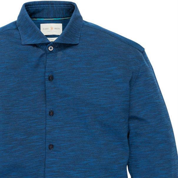 Cast Iron casual overhemd Slim Fit csi186610 in het Donker Blauw