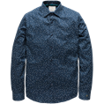 Cast Iron casual overhemd Slim Fit csi191600 in het Donker Blauw