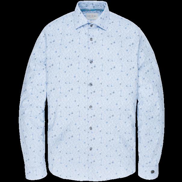 Cast Iron casual overhemd Slim Fit csi195602 in het Licht Blauw