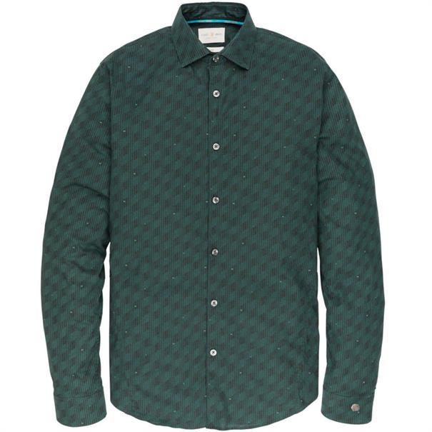 Cast Iron casual overhemd Slim Fit csi196620 in het Groen
