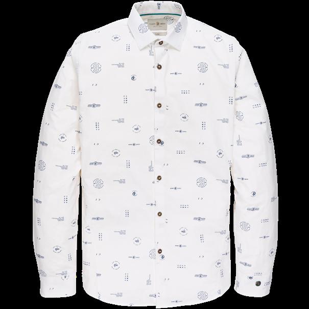 Cast Iron casual overhemd Slim Fit CSI202618 in het Wit