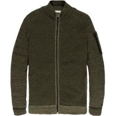 Cast Iron gebreid vest Slim Fit ckc197441 in het Groen