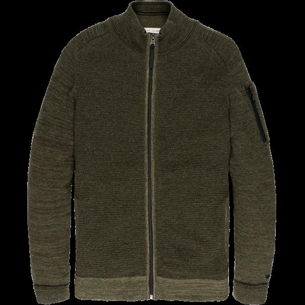 Cast Iron gebreid vest Slim Fit ckc197441 in het Groen