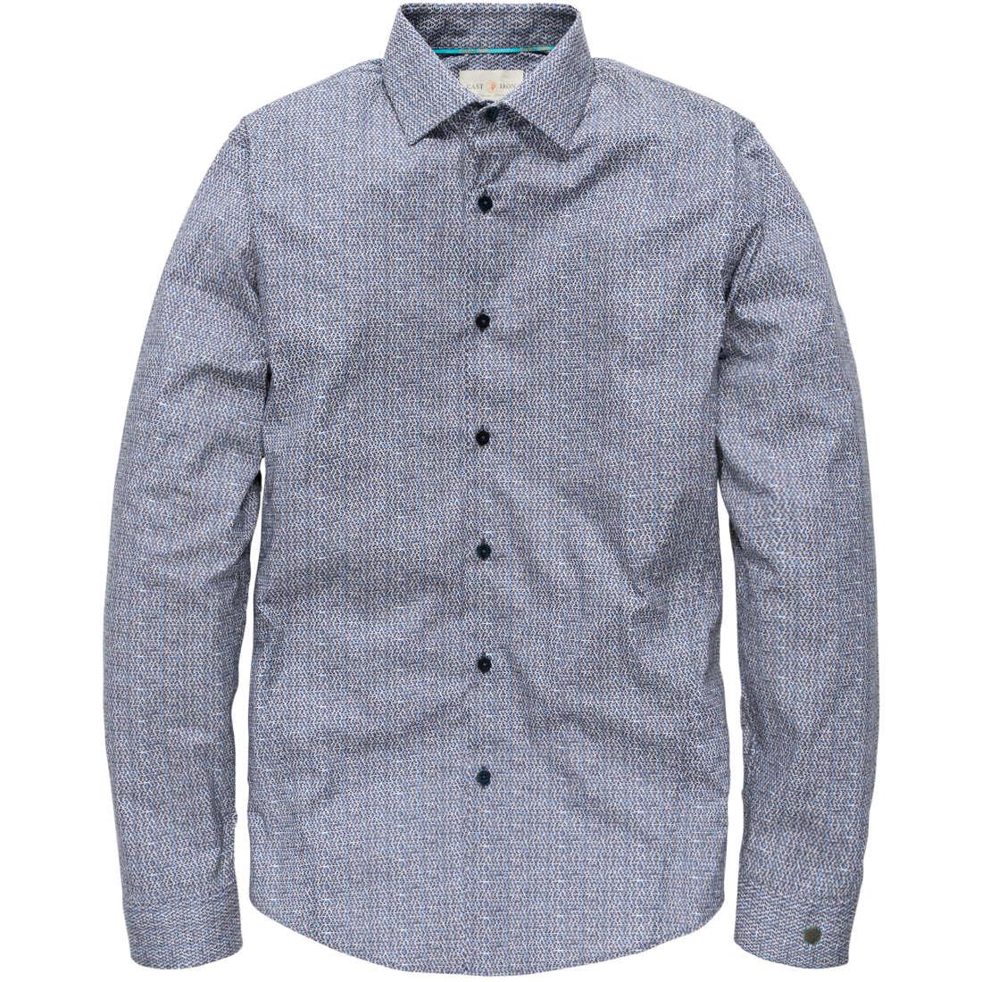 Cast Iron overhemd csi185673 in het Donker Blauw
