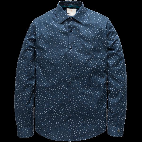 Cast Iron overhemd csi191600 in het Donker Blauw