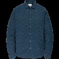 Cast Iron overhemd csi195602 in het Donker Blauw