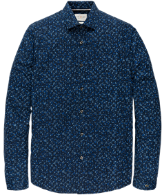 Cast Iron overhemd CSI205604 in het Donker Blauw