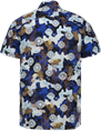 Cast Iron overhemd CSIS214254 in het Marine