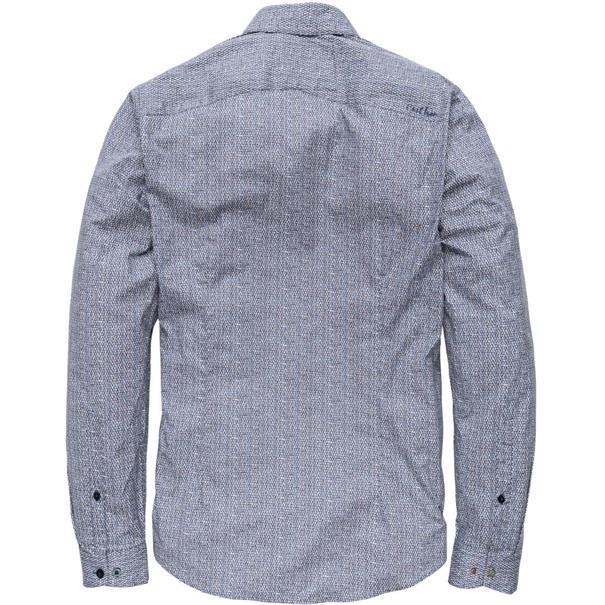 Cast Iron overhemd Slim Fit csi185673 in het Donker Blauw