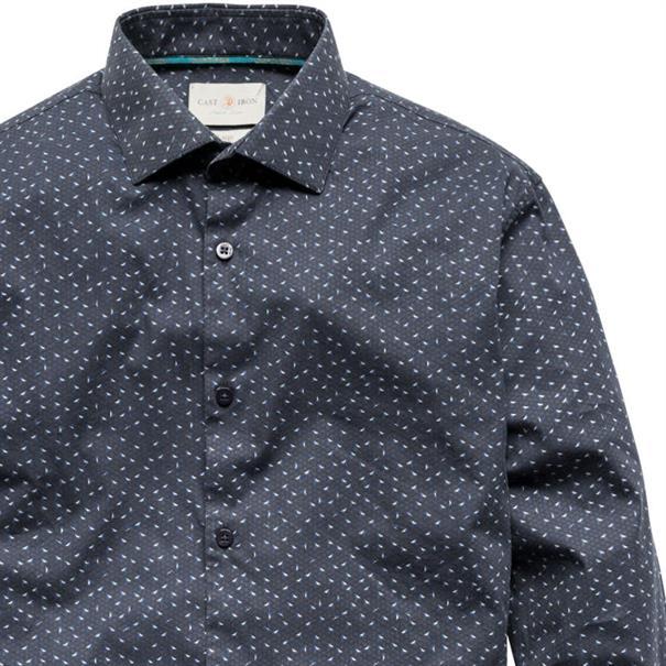 Cast Iron overhemd Slim Fit csi186607 in het Donker Blauw
