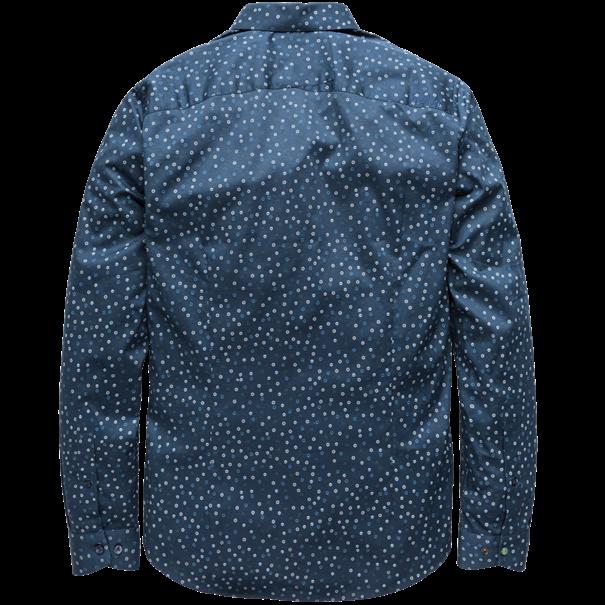 Cast Iron overhemd Slim Fit csi191600 in het Donker Blauw