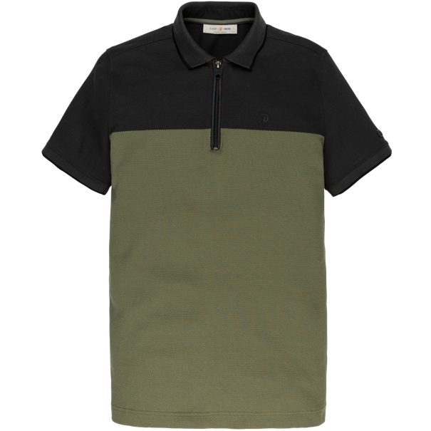 Cast Iron polo's Slim Fit cpss201856 in het Zwart